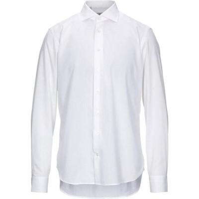 リバティ ローズ LIBERTY ROSE メンズ シャツ トップス solid color shirt White
