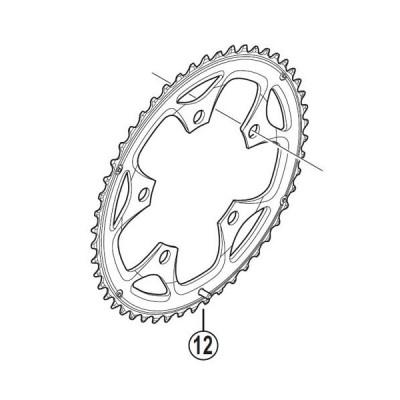 [12]スパイク付チェーンリング 50T-F(ブラック) 【自転車】【ロードレーサー用】【SORA】【FC3550用スモールパーツ】