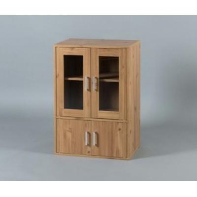 【キッチン家具】ガラスキャビネット -- ●品番:GKN-9060●色:ナチュラル