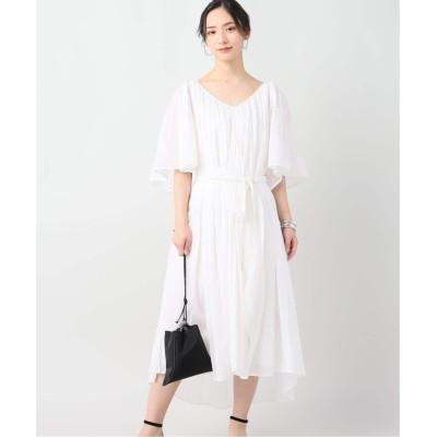 レディース プラージュ 【ANAAK/アナーク】 ISADORA FLUTTER SLEEVE DRESS ホワイト フリー