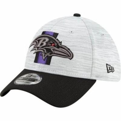 ニューエラ New Era メンズ 帽子 Baltimore Ravens Grey Sideline 2021 Training Camp 39Thirty Stretch Fit Hat