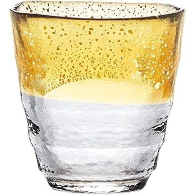 焼酎グラス 和がらす温 お湯わり焼酎ぐらす お湯割り 金箔 琥珀 300ml