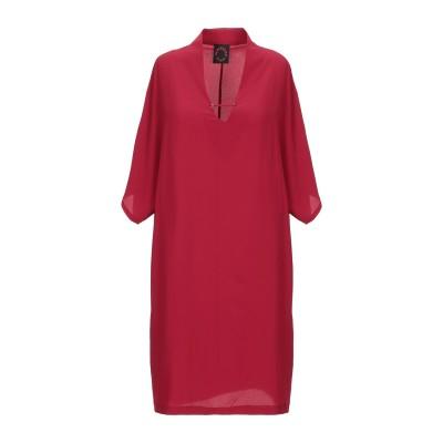 VAPOFORNO MILANO ミニワンピース&ドレス レッド S ポリエステル 100% ミニワンピース&ドレス