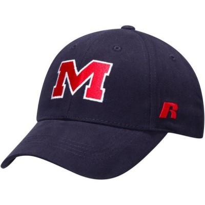 ユニセックス スポーツリーグ アメリカ大学スポーツ Ole Miss Rebels Russell Athletic Endless Adjustable Hat - Navy - OSFA 帽子