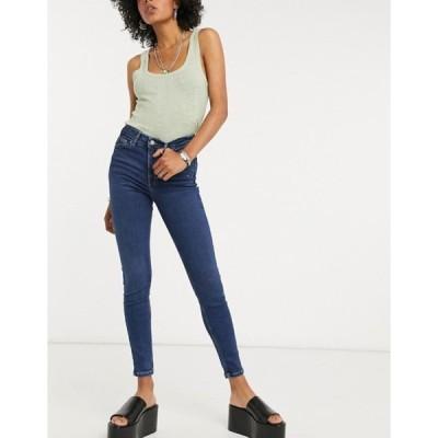 トップショップ レディース デニムパンツ ボトムス Topshop Jamie skinny jeans in indigo