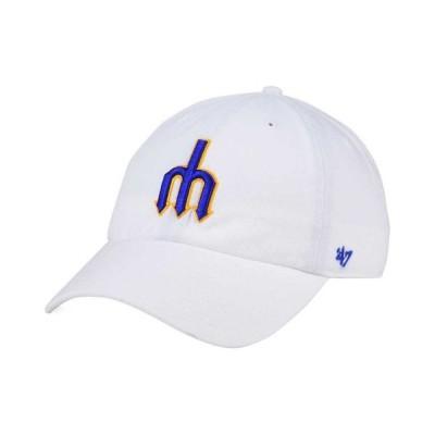 47ブランド メンズ 帽子 アクセサリー Seattle Mariners Core CLEAN UP Strapback Cap