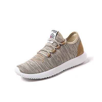 [Make 2 Be] メンズ アッパーニット スニーカー フィット 軽量 靴 シューズ 通気性 ランニング ジョギング ウォーキング アウトドア M
