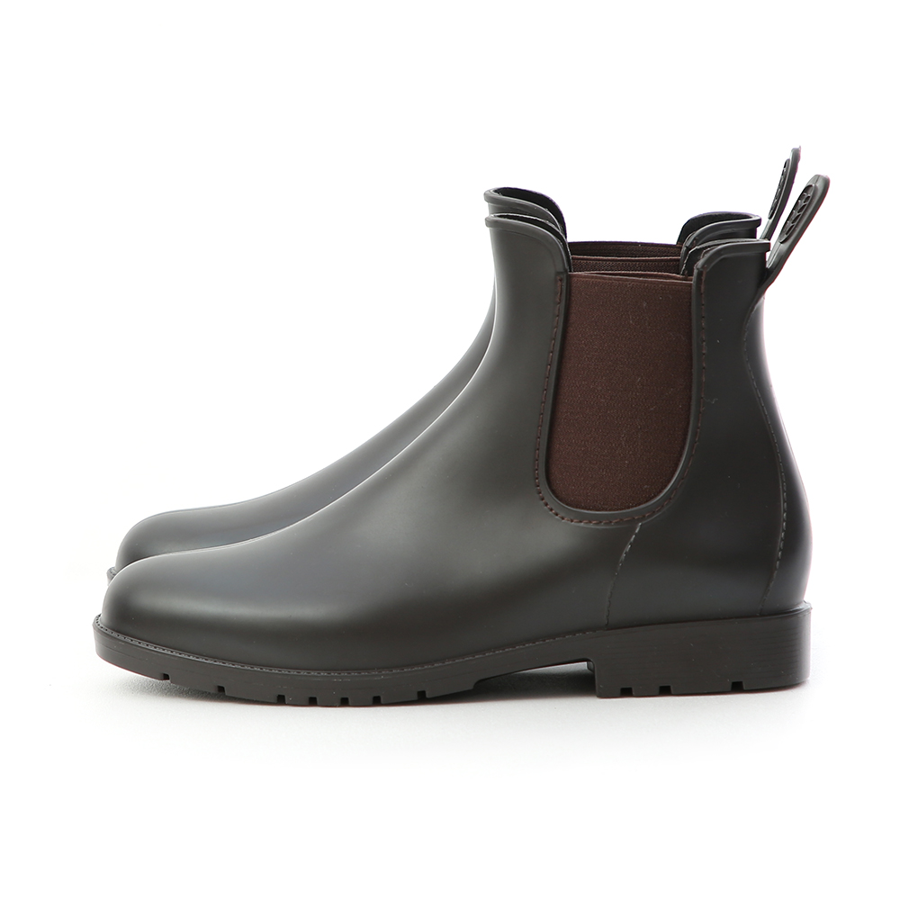 D+AF 晴雨二穿.側鬆緊切爾西短雨靴