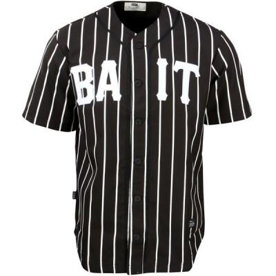 BAIT メンズ トップス Sluggers Baseball Jersey - Pinstripe black/white/pinstripe