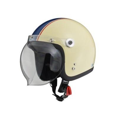 BARTON BC-10 ジェットヘルメット アイボリー×ネイビー フリー(57〜60cm未満) リード工業