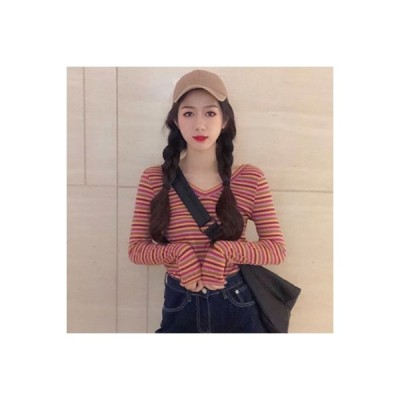 【送料無料】秋 韓国風 気質Vネック 着やせ 着やせ シャツ シンプル 何でも似合う   364331_A63556-0963124