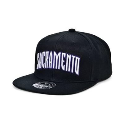 ミッチェル&ネス メンズ 帽子 アクセサリー Sacramento Kings Team Ground Fitted Cap Black