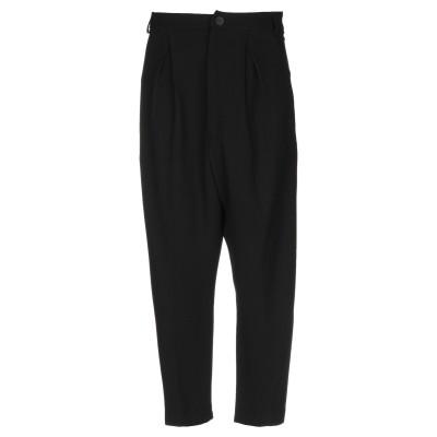 MALLONI パンツ ブラック 46 レーヨン 83% / バージンウール 13% / ポリウレタン 4% パンツ