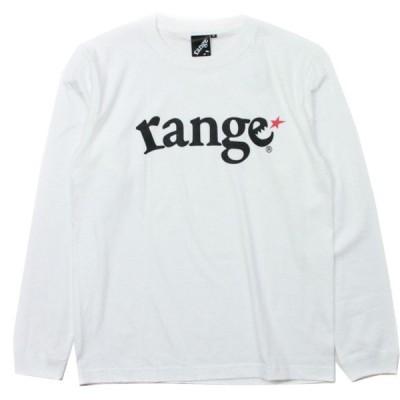 range  ロンT   LOGO 白  (レンジ)