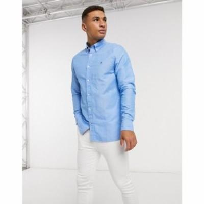 トミー ヒルフィガー Tommy Hilfiger メンズ シャツ トップス Linen Slim Long Sleeve Shirt ブルー