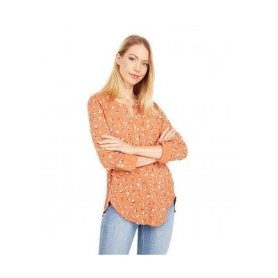 Lucky Brand ラッキーブランド レディース 女性用 ファッション ブラウス Printed Pointelle Henley - Multi