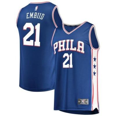 ユニセックス スポーツリーグ バスケットボール Joel Embiid Philadelphia 76ers Fanatics Branded Fast Break Replica Jersey Royal - I