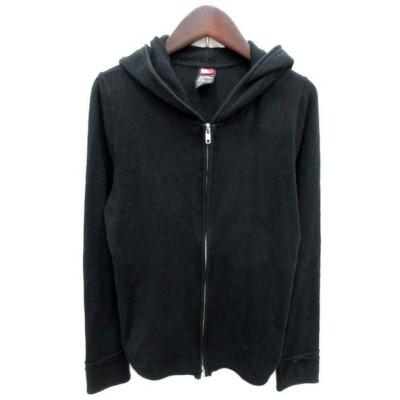 【中古】ダブルスタンダードクロージング ダブスタ DOUBLE STANDARD CLOTHING ジャケット パーカー ダブルジップアップ F 黒 ブラック /TI レディース