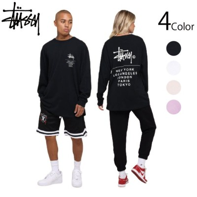 Stussy ステューシー Tシャツ Cities Stack Long Sleeve T-Shirt ストリート系 4カラー ロゴ メンズ レディース ユニセックス 正規品[衣類]