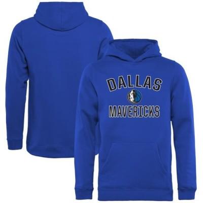 キッズ スポーツリーグ バスケットボール Dallas Mavericks Youth Victory Arch Pullover Hoodie - Royal トレーナー