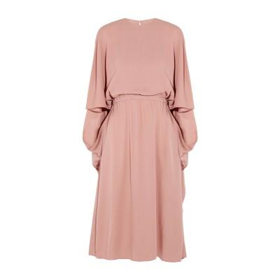 ヴァレンティノ VALENTINO 7分丈ワンピース・ドレス パステルピンク 40 シルク 100% 7分丈ワンピース・ドレス