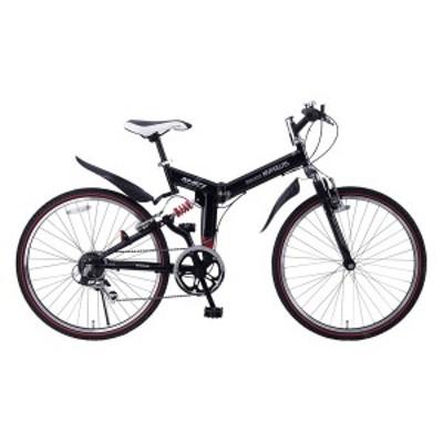 マイパラス M-671RE-BK ブラック [折りたたみ自転車(26インチ・6段変速)] メーカー直送