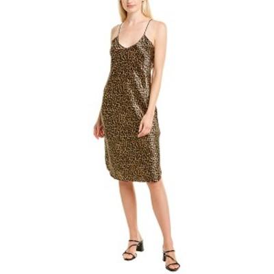 ニリロータン レディース ワンピース トップス Nili Lotan Printed Silk Cami Dress mocha leopard print