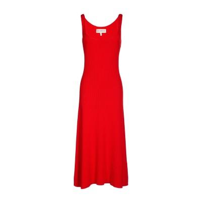 マラ・ホフマン MARA HOFFMAN 7分丈ワンピース・ドレス レッド L オーガニックコットン 100% 7分丈ワンピース・ドレス