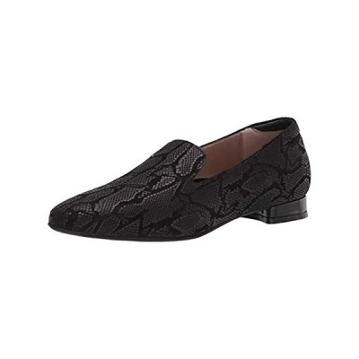 BeautiFeel womens Art Decco Loafer Flat, Blk Rep Pr Su, 11 US