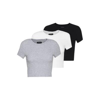 エブンアンドオッド Tシャツ レディース トップス Basic T-shirt - white/black/light grey