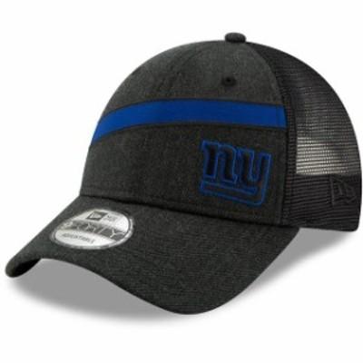 New Era ニュー エラ スポーツ用品  New Era New York Giants Heathered Black Black Label Scale Trucker 9FORTY Snapback A