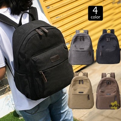 リュックサック バックパック レディース リュック バッグ A4 キャンバス 帆布 通学 通勤 出張 旅行 デイパック 鞄