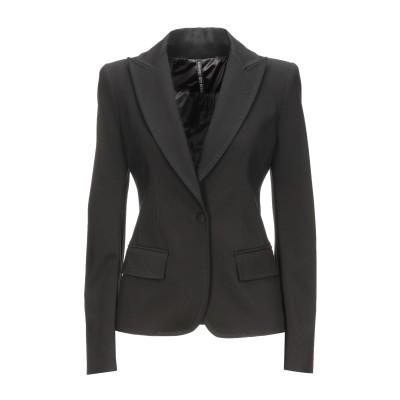 プレイン・スッド PLEIN SUD テーラードジャケット ブラック 36 レーヨン 69% / ナイロン 25% / ポリウレタン 6% テーラー
