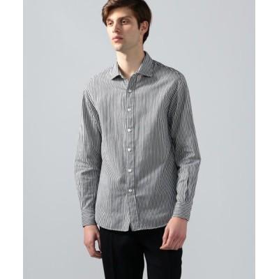 TOMORROWLAND/トゥモローランド サテンフランネル ラウンドカラーシャツ 68 ネイビー系 XS