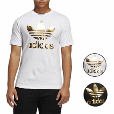 アディダス Tシャツ メンズ 半袖 オリジナルス ホワイト/ブラック/ゴールド トレフォイルMen's adidas Originals Trefoil T-Shirt White
