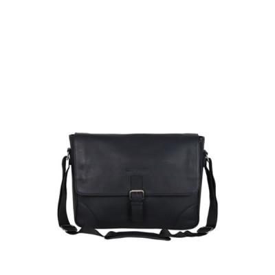 ベンシャーマン レディース ショルダーバッグ バッグ Premium Karino Leather Messenger Bag BLACK