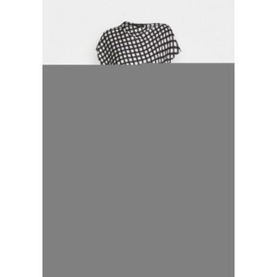 セオリー レディース ワンピース トップス DRAPE  - Day dress - black multi black multi