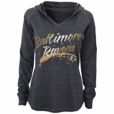 Outerstuff アウタースタッフ スポーツ用品  Baltimore Ravens Juniors Gray Fabulous Long Sleeve Hooded T-Shirt