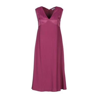 WTR 7分丈ワンピース・ドレス ガーネット 36 レーヨン 98% / ポリウレタン 2% 7分丈ワンピース・ドレス