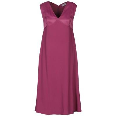 WTR 7分丈ワンピース・ドレス ガーネット 34 レーヨン 98% / ポリウレタン 2% 7分丈ワンピース・ドレス