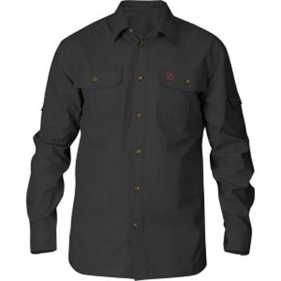 フェールラーベン メンズ シャツ トップス Singi Trekking Shirt Dark Grey