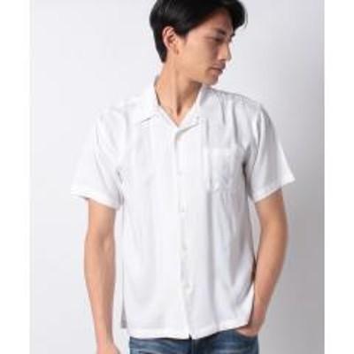 STYLEBLOCK(スタイルブロック)無地半袖オープンカラーシャツ
