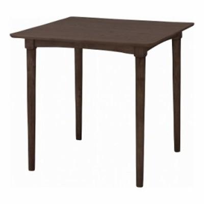 ダイニングテーブル 幅75×奥行75×高さ70 天然木化粧繊維板 オーク 天然木 ラバーウッド ウレタン塗装 ラッカー塗装(代引不可)【送料無