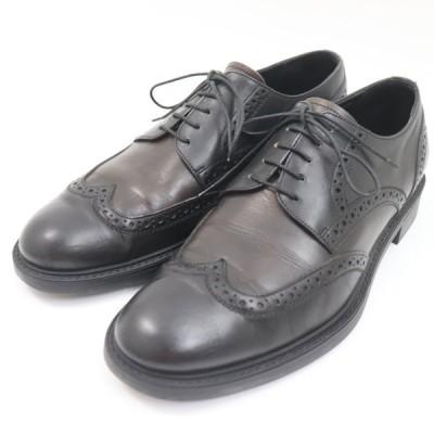 e12316 即決 本物 Ermenegildo Zegna エルメネジルドゼニア レザー ウイングチップ ビジネスシューズ 革靴 黒 ブラウン メンズ サイズ US8
