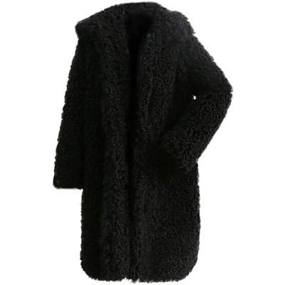 レディース アウター コート 大きいサイズ ロングコート 暖かい 無地 長袖 カジュアル 春秋冬 通勤(s2012250775)