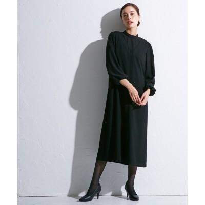 【喪服・礼服】洗えるリバーシブルスタンドカラーレースブラウス+前開きジャンスカワンピース<大きいサイズ有> ブラックフォーマル, Funeral Outfit