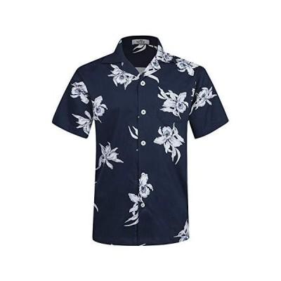 アロハシャツ メンズ 半袖 UVカット 軽量 薄手 プリントシャツ ハワイ風 通気速乾 カジュアル 夏服 オシャレ EHS016-S(JP
