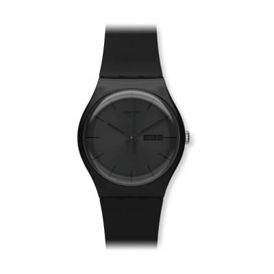 [スウォッチ]SWATCH 腕時計 NEW GENT(ニュージェント) BLACK REBEL SUOB702 【正規輸入品】