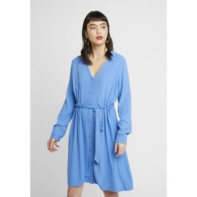 セレクテッドフェム ワンピース レディース トップス SLFNANNA DAMINA SHORT DRESS - Day dress - campanula