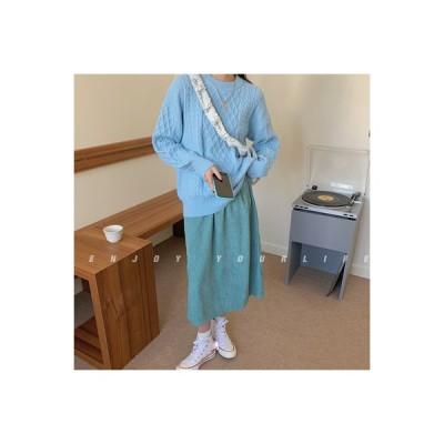【送料無料】秋 韓国風 西洋風 何でも似合う ツイスト 紋 ニットのセーター 女 怠 | 346770_A63956-9184537